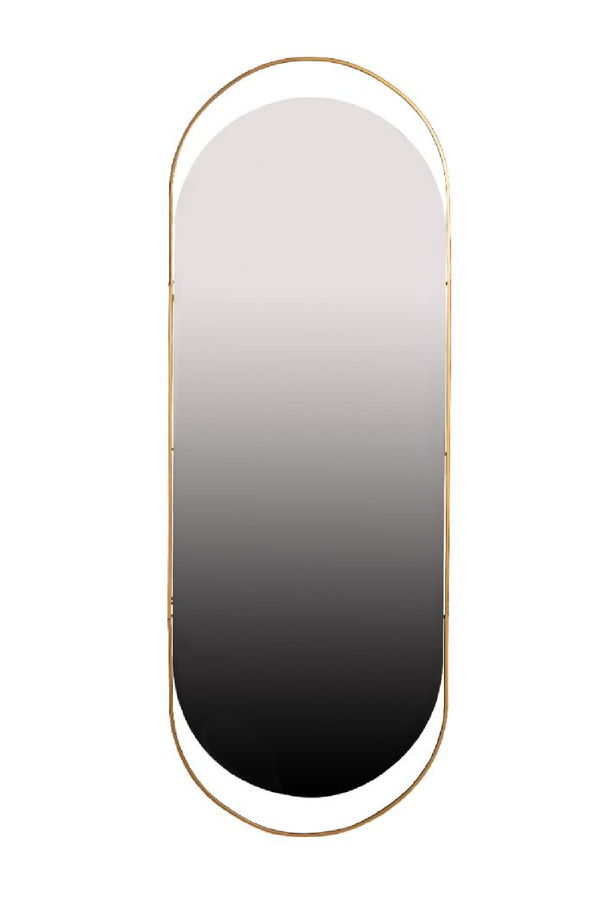 Brass Oval Metal Mirror XL | Woood Sanou | Dutchfurniture.com