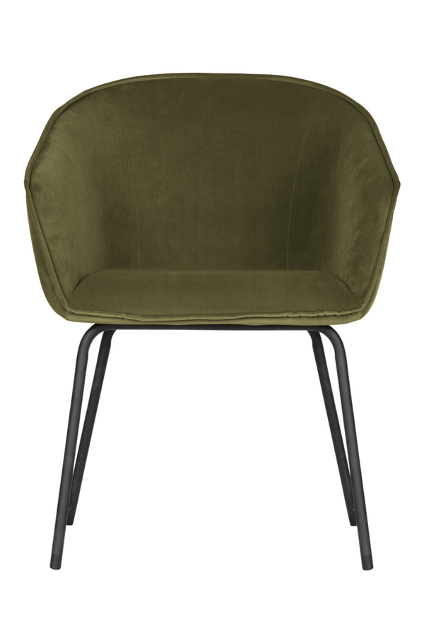 Dark Green Upholstered Dining Chairs (2) | WOOOD Sien | DutchFurniture.com