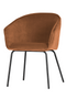 Orange Upholstered Dining Chairs (2) | WOOOD Sien | DutchFurniture.com