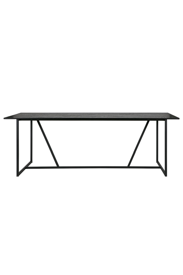 Black Oak Wood Dining Table | Woood Silas | Dutchfurniture.com