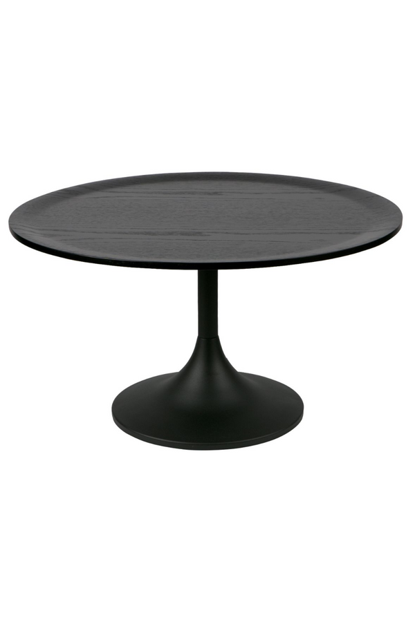 Black Round Oak Coffee Table | Woood Bowie | Dutchfurniture.com