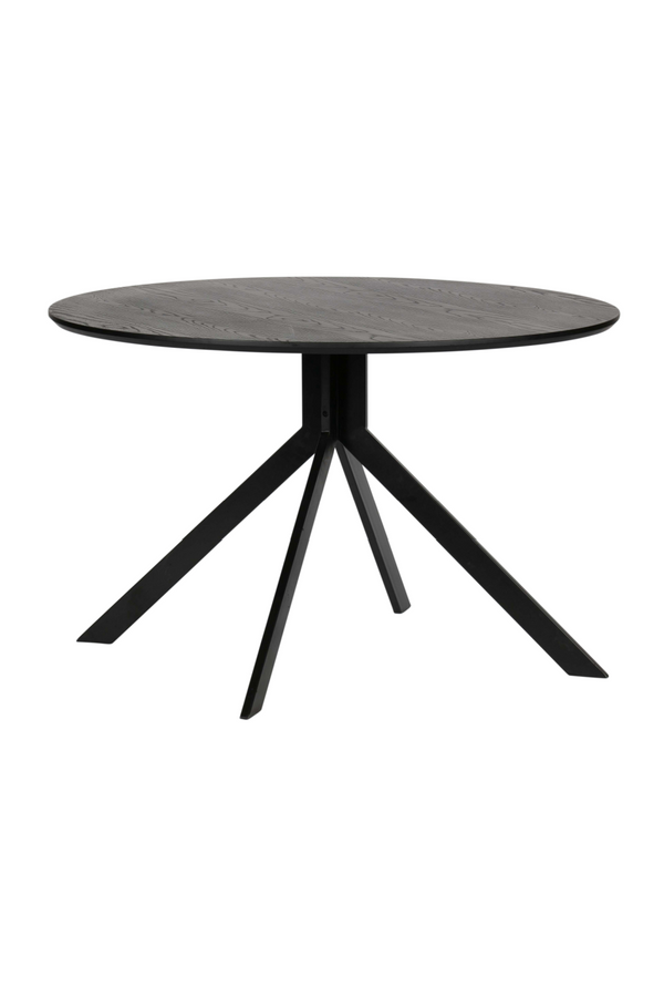 Black Round Dining Table | Woood Bruno| Dutchfurniture.com