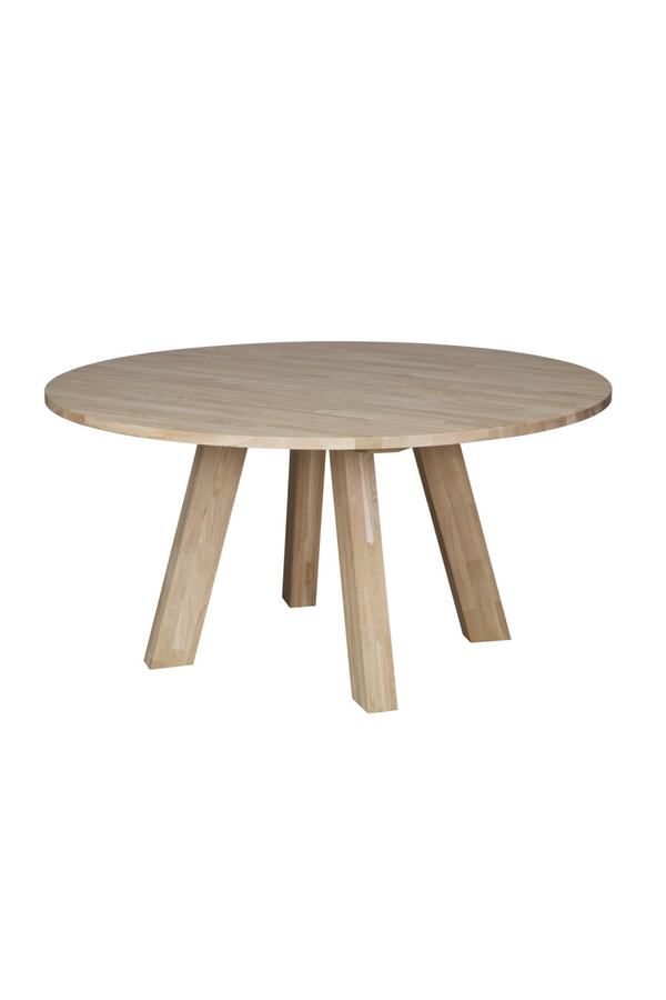 Round Natural Oak Dining Table L | Woood Rhonda | Dutchfurniture.com
