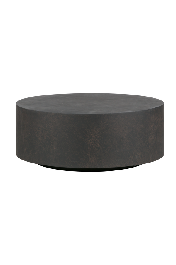 Brown Round Coffee Table Large | WOOOD Dean | Dutchfurniture.com