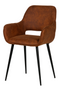 Brown Velvet Dining Chairs (2) | WOOOD Jelle | DutchFurniture.com