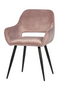 Light Pink Velvet Dining Chairs (2) | WOOOD Jelle | DutchFurniture.com