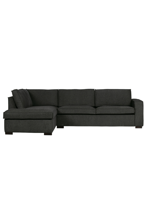 Dark Gray Mix Left Corner Sofa | WOOOD Thomas | DutchFurniture.com