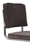 Dark Gray Rib Upholstered Dining Chairs (2) | Zuiver Ridge Kink | DutchFurniture.com