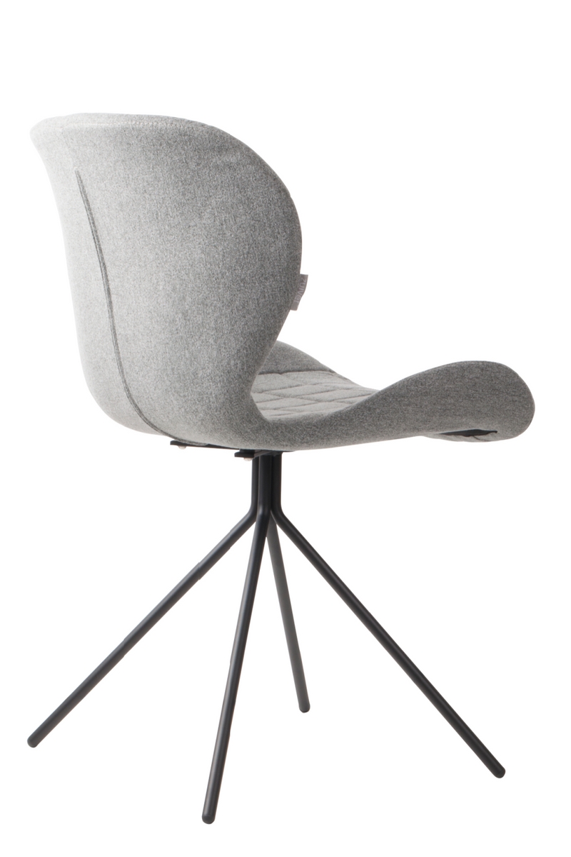 Light Gray Upholstered Dining Chairs (2) | Zuiver OMG | DutchFurniture.com