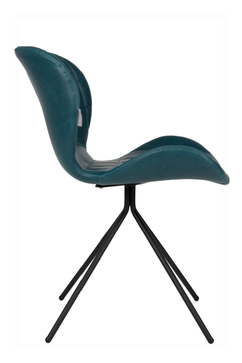 Teal Leather Dining Chairs (2) | Zuiver OMG LL | Dutchfurniture.com