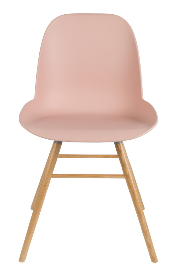 Pink Molded Dining Chairs (2) | Zuiver Albert Kuip | DutchFurniture.com