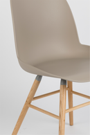 Taupe Molded Dining Chairs (2) | Zuiver Albert Kuip | DutchFurniture.com