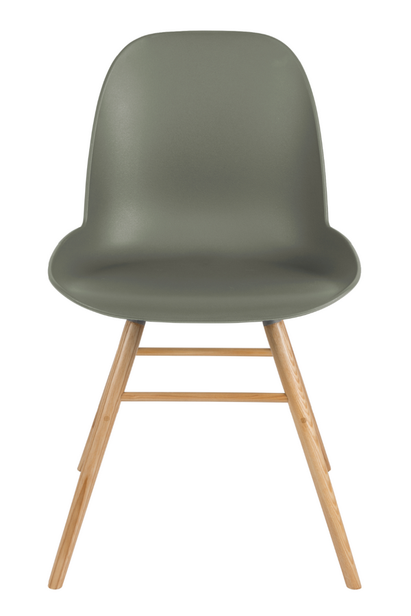 Green Molded Dining Chairs (2) | Zuiver Albert Kuip | Dutchfurniture.com