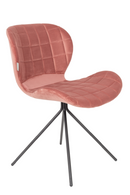 Pink Velvet Dining Chairs (2) | Zuiver OMG | Dutchfurniture.com
