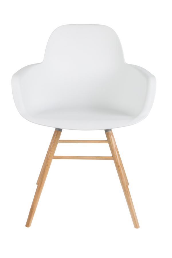 White Molded Dining Armchairs (2) | Zuiver Albert Kuip | DutchFurniture.com