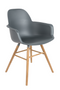 Dark Gray Molded Dining Armchairs (2) | Zuiver Albert Kuip  |  Dutchfurniture.com