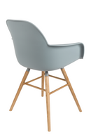 Gray Molded Dining Armchairs (2) | Zuiver Albert Kuip | dutchfurniture.com