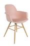 Pink Molded Dining Armchairs (2) | Zuiver Albert Kuip | DutchFurniture.com