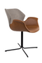 Brown Leather Butterfly Dining Chairs (2) | Zuiver Nikki Fab | dutchfurniture.com