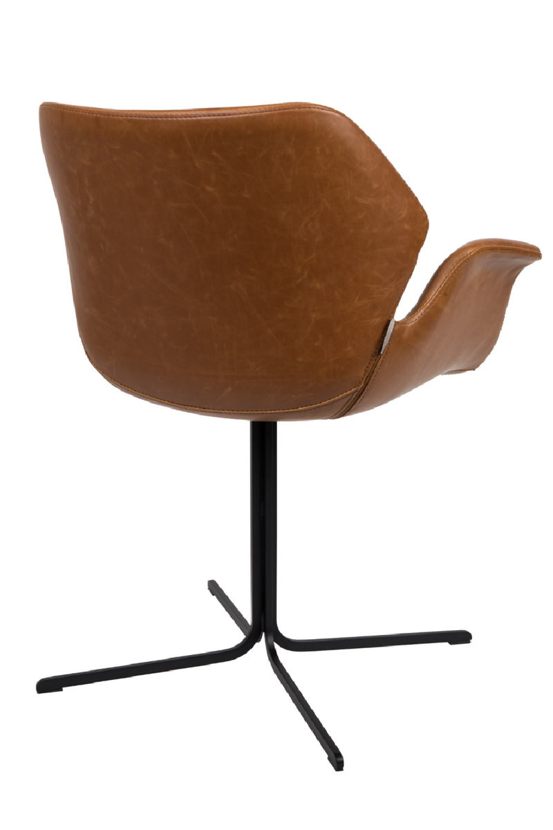 Brown Leather Butterfly Dining Chairs (2) | Zuiver Nikki All | dutchfurniture.com
