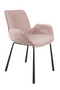 Pink Velvet Dining Chairs (2) | Zuiver Brit | Dutchfurniture.com