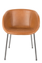 Brown Leather Barrel Armchairs (2) | Zuiver Feston | DutchFurniture.com