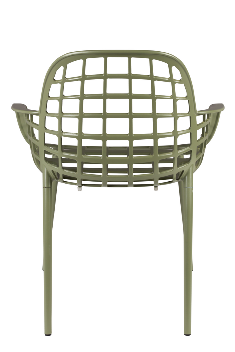 Green Molded Garden Armchairs (2) | Zuiver Albert Kuip | Dutchfurniture.com