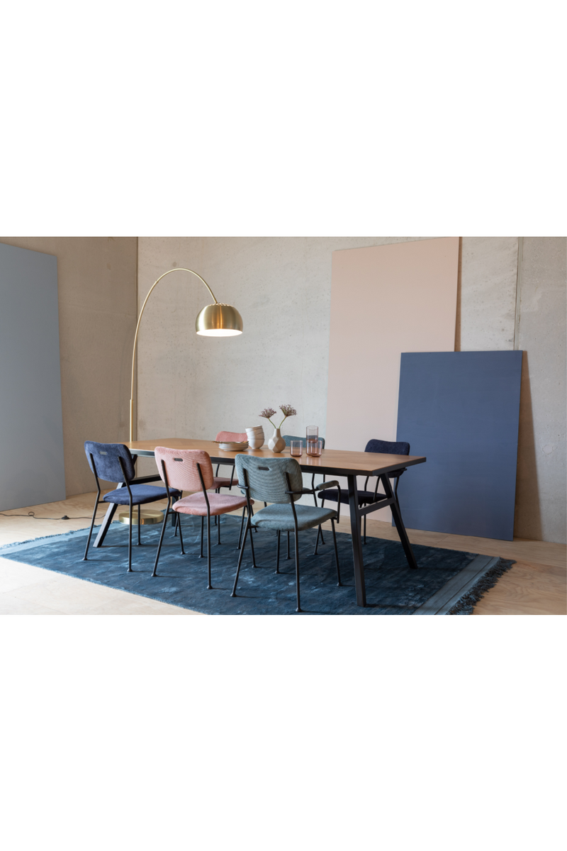 Pink Upholstered Dining Armchair (2) | Zuiver Benson | DutchFurniture.com
