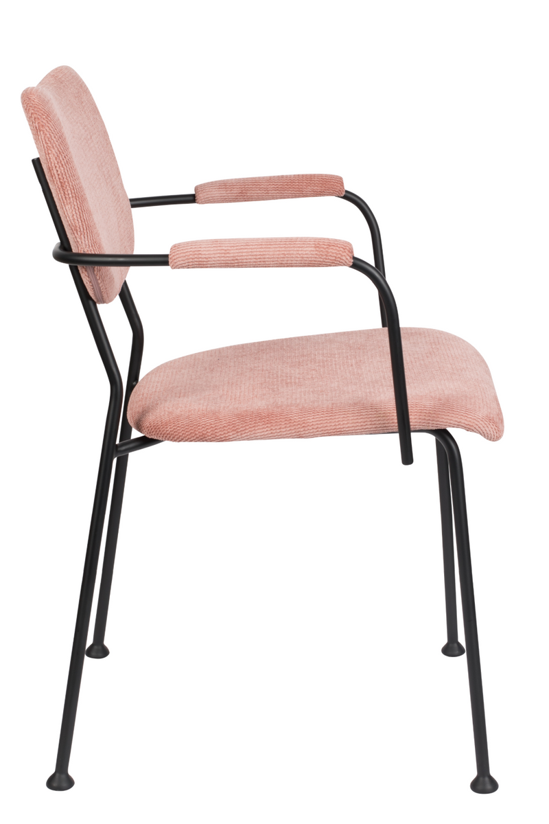 Pink Upholstered Dining Armchairs (2) | Zuiver Benson | DutchFurniture.com