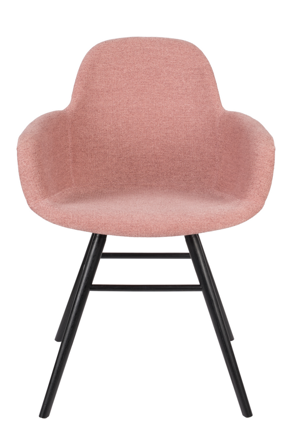 Pink Upholstered Armchairs (2) | Zuiver Albert Kuip Soft | dutchfurniture.com