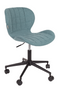 Blue Upholstered Bucket Office Chair | Zuiver OMG | dutchfurniture.com