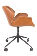 Brown Leather Butterfly Office Chair | Zuiver Nikki | DutchFurniture.com