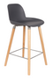 Dark Gray Molded Counter Stools (2) | Zuiver Albert Kuip | dutchfurniture.com