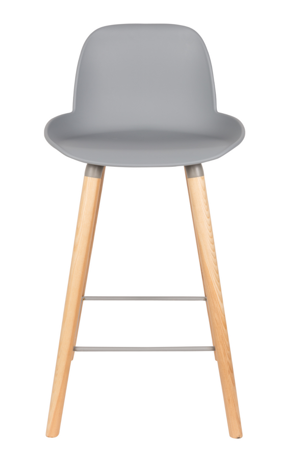 Gray Molded Counter Stools (2) | Zuiver Albert Kuip | dutchfurniture.com