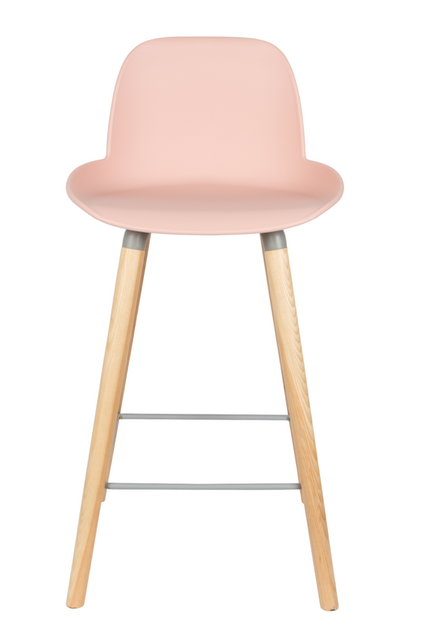 Pink Counter Stools (2) | Zuiver Albert Kuip | DutchFurniture.com