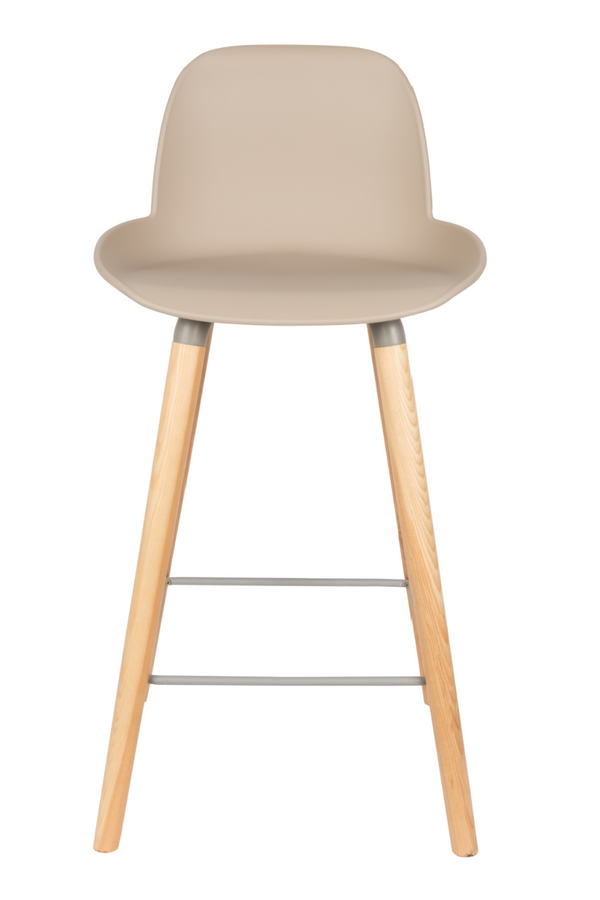 Taupe Molded Counter Stools (2) | Zuiver Albert Kuip | dutchfurniture.com