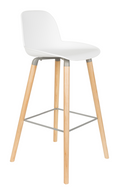 White Molded Barstools (2) | Zuiver Albert Kuip | DutchFurniture.com