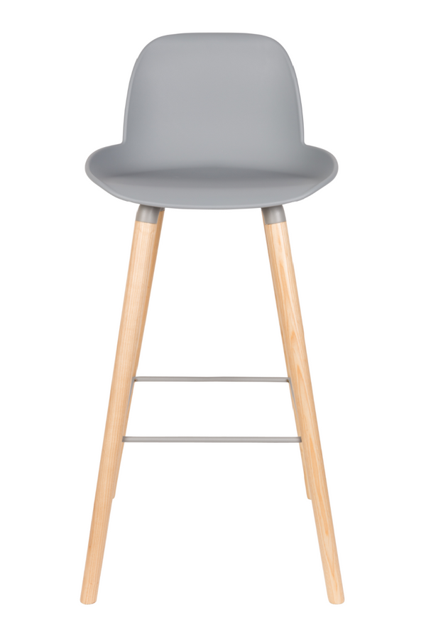 Light Grey Molded Barstools (2) | Zuiver Albert Kuip | dutchfurniture.com