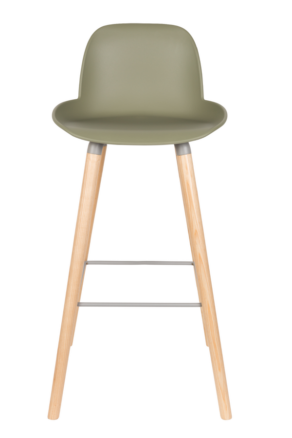 Green Molded Barstools (2) | Zuiver Albert Kuip | Dutchfurniture.com