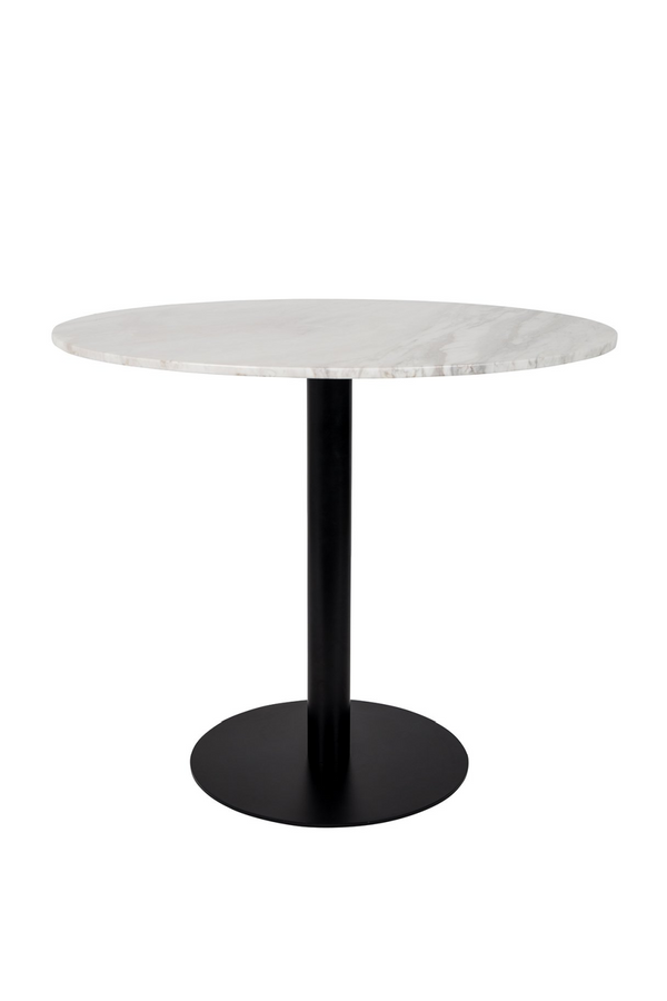 Rounded White Marble 90' Dining Table | Zuiver King | DutchFurniture.com