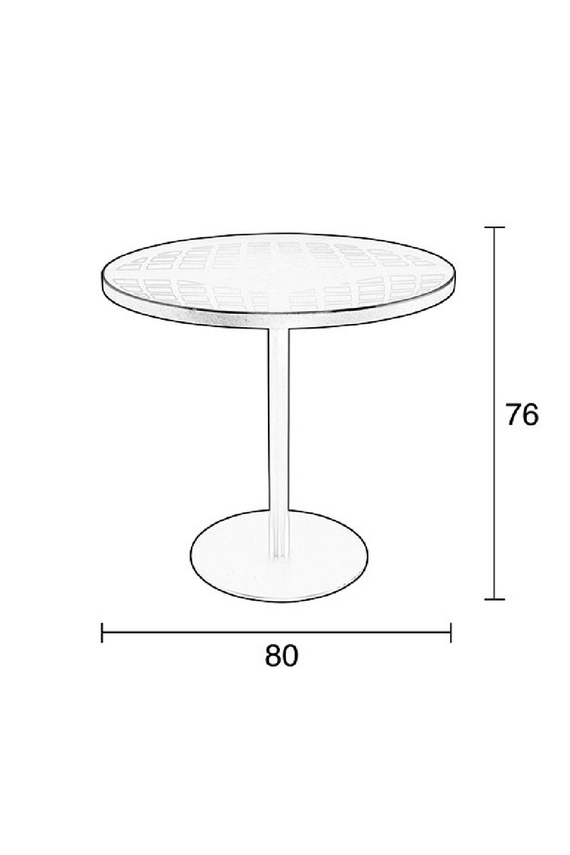 Tempered Glass Garden Table | Zuiver Albert Garden | Dutchfurniture.com