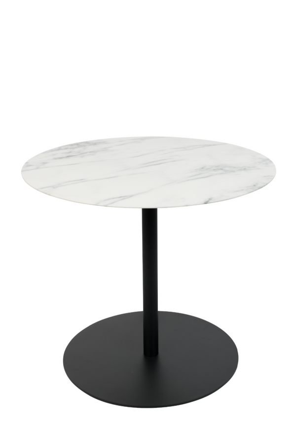 Round White Marble End Table (M) | Zuiver Snow | DutchFurniture.com