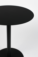 Round Black End Table (S) | Zuiver Snow | DutchFurniture.com