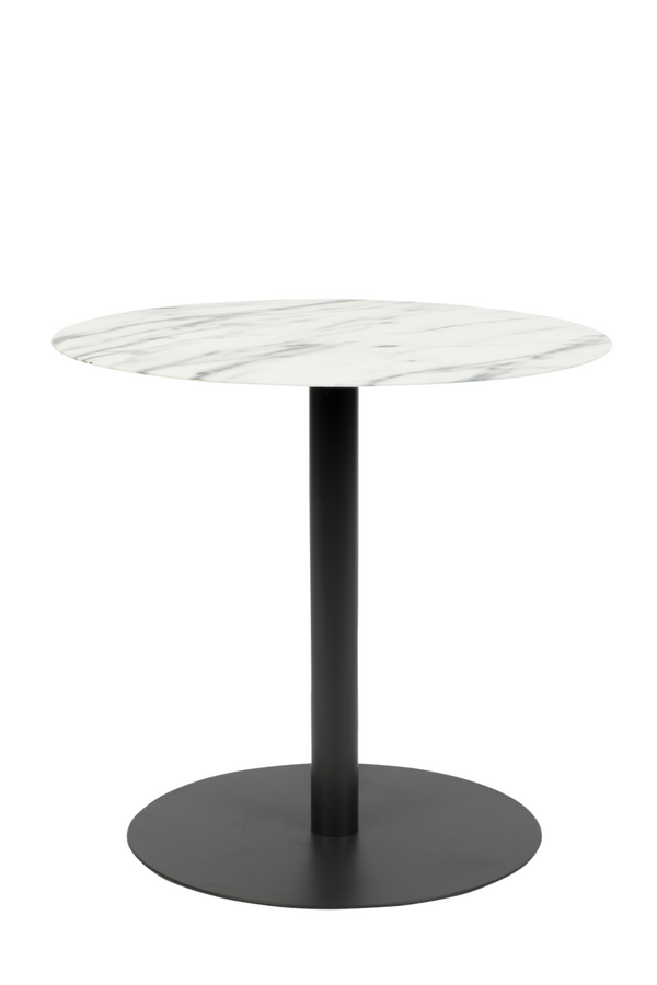 Round White Marble End Table (S) | Zuiver Snow | DutchFurniture.com