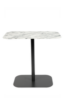 Rectangular White Marble End Table | Zuiver Snow | DutchFurniture.com