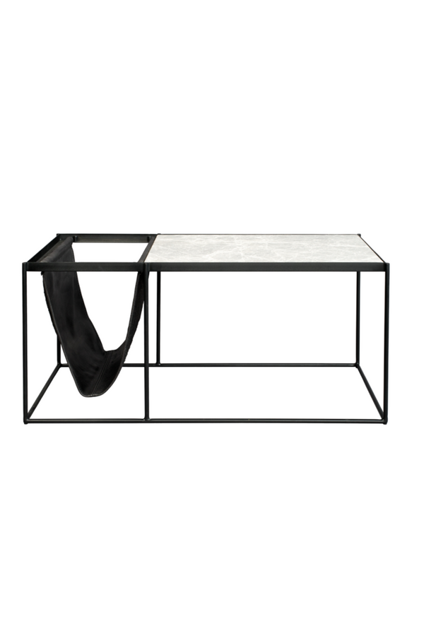Rectangular White Marble Coffee Table | Zuiver Kansas | DutchFurniture.com
