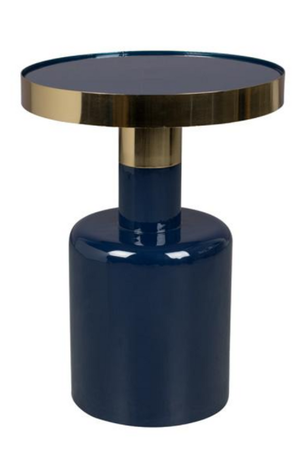 Blue Enamel Sculptural Side table | Zuiver Glam | dutchfurniture.com