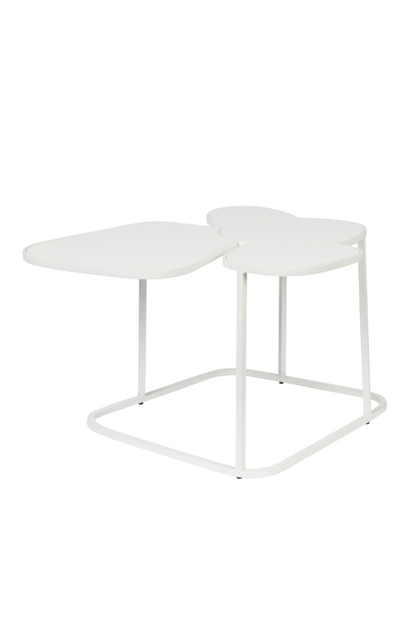 Round Glossy White End Table L | Zuiver Moondrop | Dutchfurniture.com
