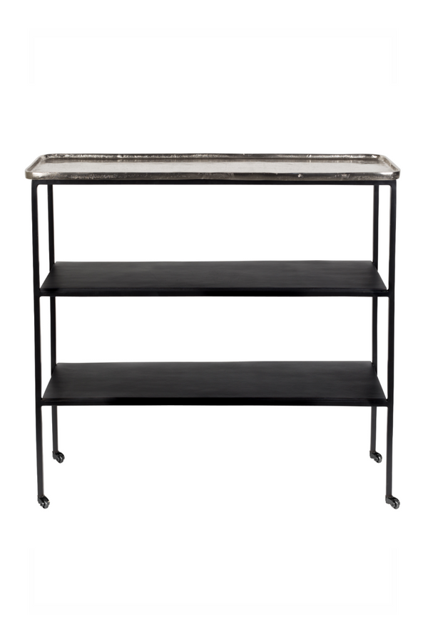 Rectangular Wheeled Side Table | Zuiver Gusto | Dutchfurniture.com