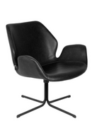 Black Leather Butterfly Swivel Chair | Zuiver Nikki | dutchfurniture.com